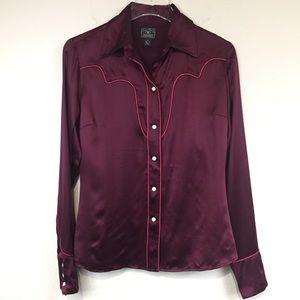Lucky Brand | Silk Western Blouse | Sz M